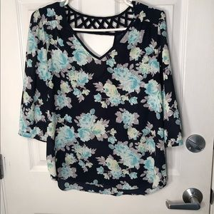 A. Byer blouse with flowers